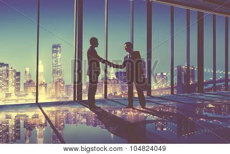 Businessmen Handshake Contract Greeting Business Concept