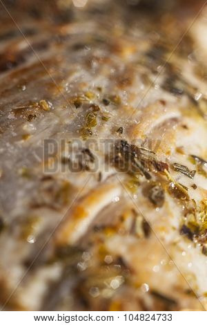 Close-up Of Roasted Pork Tenderloin