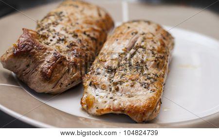 Two Roasted Pork Tenderloins