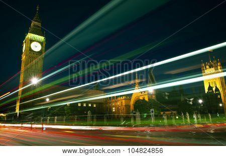 London Lights Clock Tower Famous Place Concept