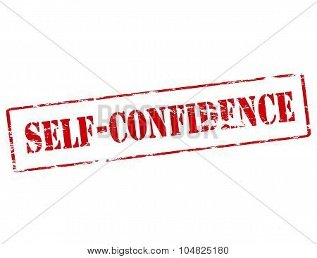 Rubber stamp with text Self confidence inside vector illustration