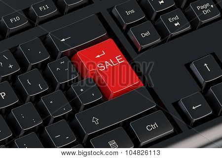 Sale Keyboard Red Button