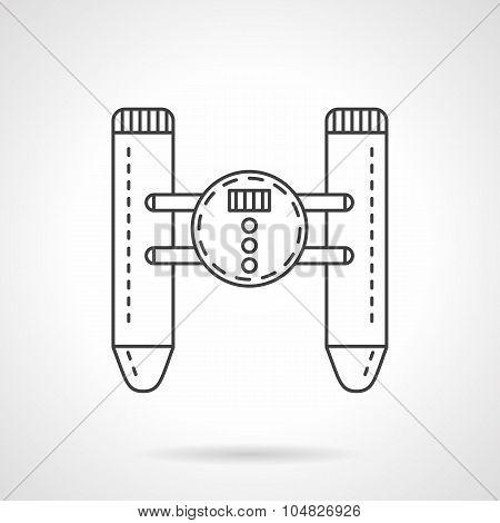 Remote control device flat line vector icon