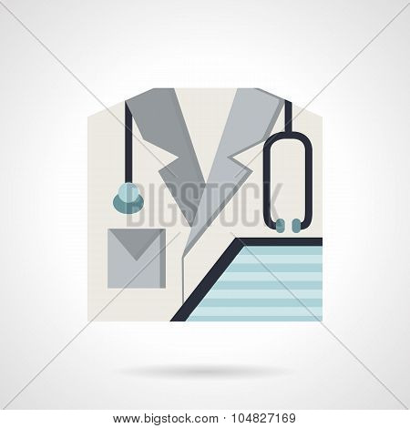 Physician flat style vector icon