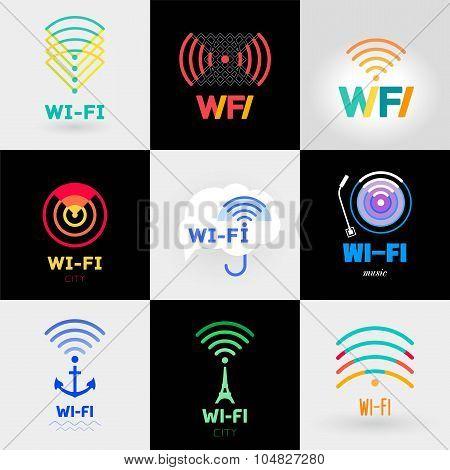 Set Wi-Fi and a logo sticker.