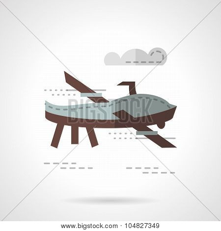 RC plane flat color vector icon
