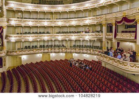 People Visit Semper Opera From Inside