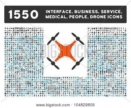 Airdrone Icon and More Interface, Business, Medical, People, Awards Vector Symbols