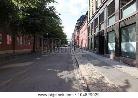 Old Street In Oslo, Norway