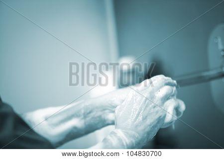 Traumatology Orthopedic Surgery Scrubbing Washing