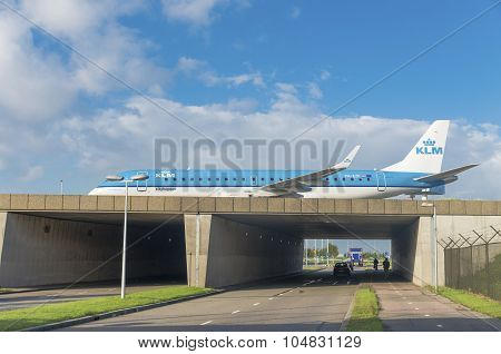 Airplane Over Highway