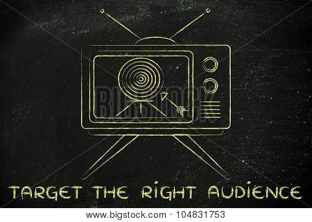 Target The Right Audience, Concept Of Tv Ads