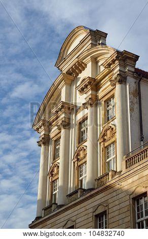 The facade of the neo-Baroque  building