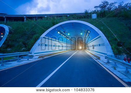 modern road tunnel