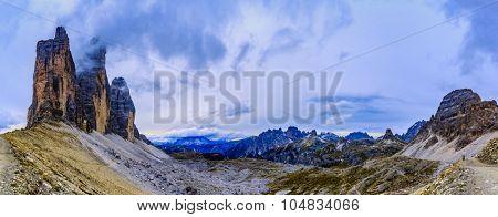 Tre Cime di Lavaredo, Dolomites, Italy - panorama