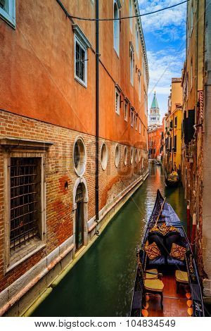 Venice, Italy - Canal and historic tenements. Filtered
