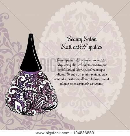 Creative nail lacquer promotional poster