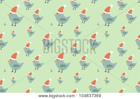 Christmas vector seamless pattern background
