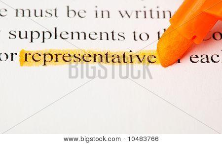 Representative Word