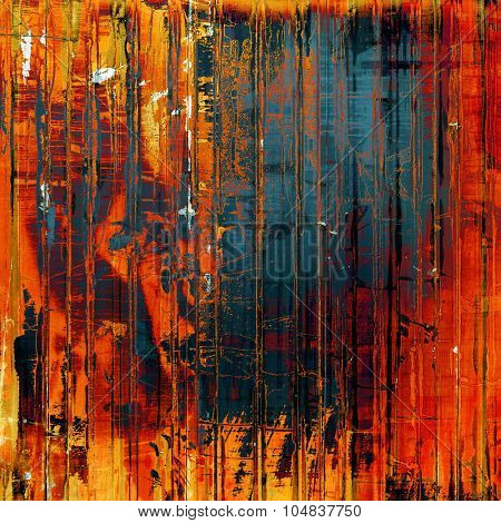 Aging grunge texture, old illustration. With different color patterns: yellow (beige); blue; red (orange); purple (violet)