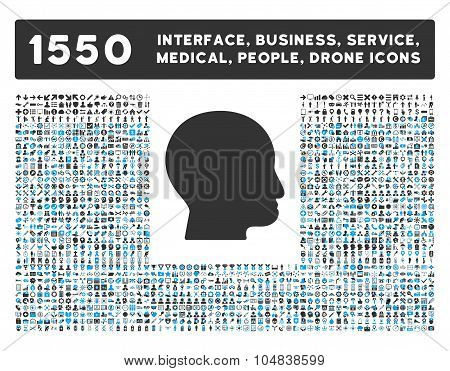 Bald Head Icon and More Interface, Business, Medical, People, Awards Vector Symbols