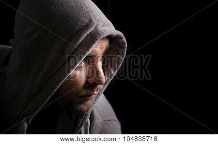 Man in a hoodie