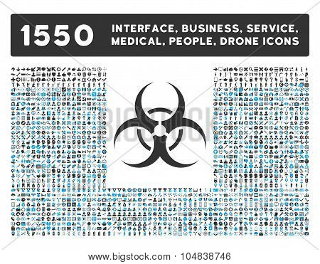 Biohazard Symbol Icon and More Interface, Business, Medical, People, Awards Vector Symbols
