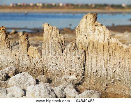 Beautiful Landscape Of The Bay In The Northwestern Part Of The Black Sea. Khadzhibei Estuary.