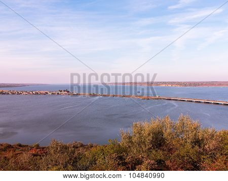 Beautiful Landscape Of The Bay In The Northwestern Part Of The Black Sea. Khadzhibei Estuary.