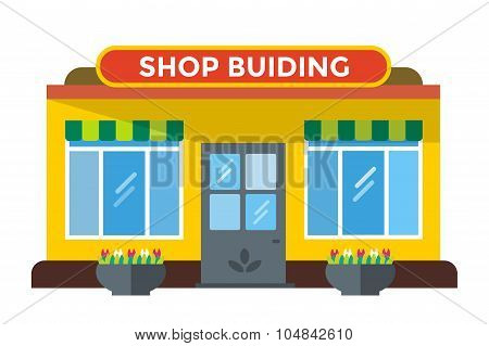 Shop buildings vector illustration