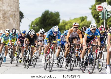 Cyclists Compete In The Central Streets Of Thessaloniki During The Course Of The 3Rd International C