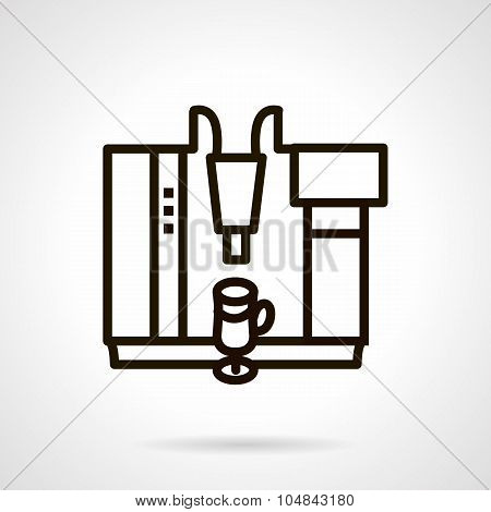 Coffee cocktails maker simple line vector icon