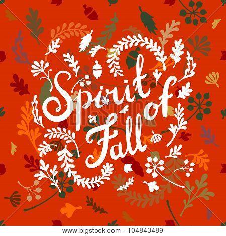 vignette of autumn leaves