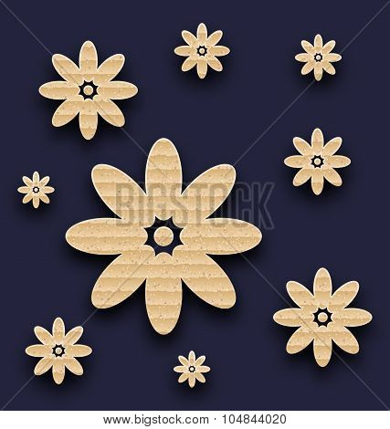 Abstract paper flowers background, carton texture