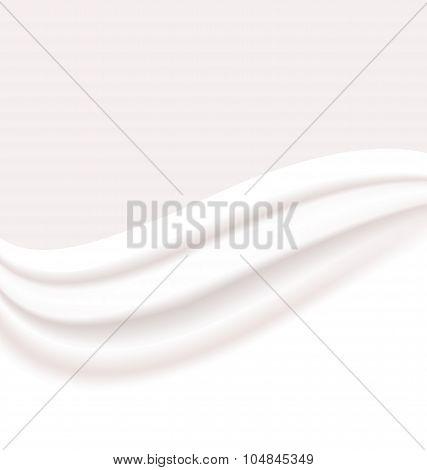 Milky or Creamy Wavy Background