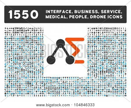Chemical Analysis Icon and More Interface, Business, Medical, People, Awards Vector Symbols