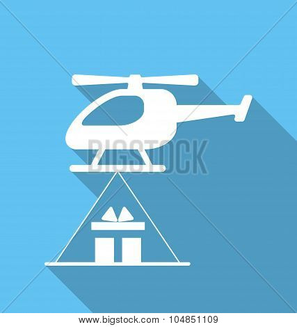 Helicopter delivery cardboard packages