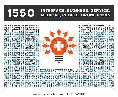 Disinfection Lamp Icon and More Interface, Business, Medical, People, Awards Vector Symbols