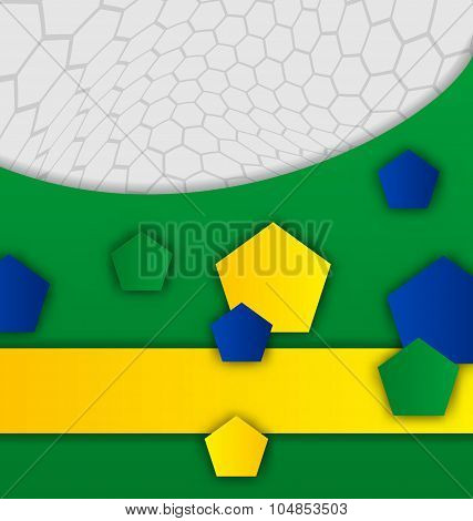 Abstract brazilian background with geometric figures
