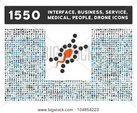 Dna Replication Icon and More Interface, Business, Medical, People, Awards Vector Symbols