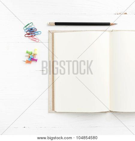 Notebook With Office Supplies