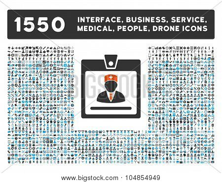 Doctor Badge Icon and More Interface, Business, Medical, People, Awards Vector Symbols