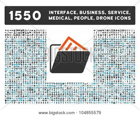 Document Folder Icon and More Interface, Business, Medical, People, Awards Vector Symbols