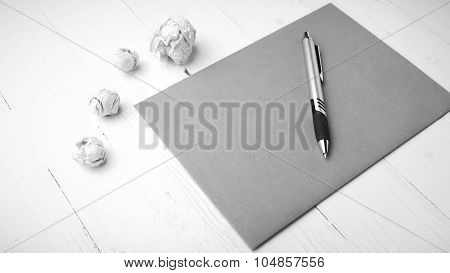 Brown Paper And Crumpled Black And White Tone Color Style