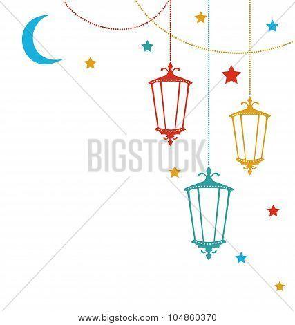 Islamic Postcard for Ramadan Kareem