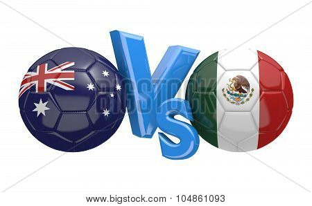 Soccer versus match between national teams Australia and Mexico