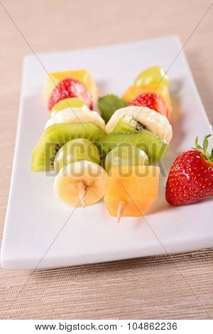 fruits on stick
