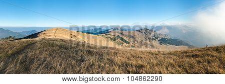 Panorama From Morning Mountain Ridge
