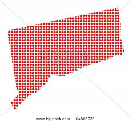 Red Dot Map Of Connecticut