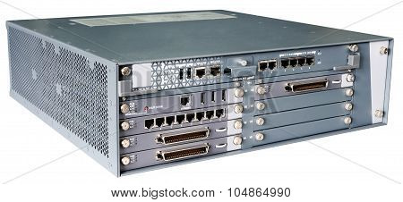 Communication Server Isolated On White